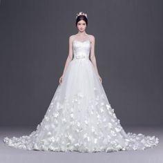 Glamorös & Dramatisk Snöra upp Naturlig Bröllopsklänningar 2016