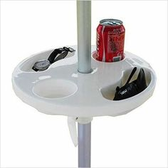Beach Umbrella Table with Cup Holders-Kitchen - www.Gifteee.com - Cool Gifts \ Unique Gifts - The Best Gifts for Men, Women and Kids of All Ages