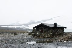 """cabinporn:  """"Stone cabin at the foot of Galdhøppigen in Lom, Norway.  Contributed by Anka Lamprecht.  """""""
