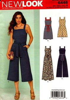 87932c57fc5 LOOK Sewing Pattern 6446a Misses Jumpsuits and Dresses Paper White 22 X for  sale online