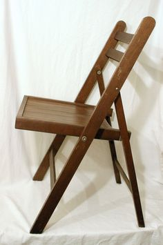 1950s Antique Pixley Funeral Home Wood Folding Chapel Chair