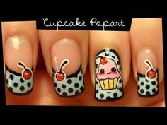 Cupcake Popart nail art (no stickers) the image isnt actually in the video its close to it tho.