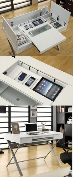 Modern and cool home office designs. This is the best home office designs ever. Home Office Space, Home Office Desks, Office Furniture, Furniture Design, Office Nook, Furniture Ideas, Bureau Design, Canapé Design, House Design