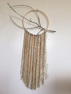 Wrapped Branch Dreamcatcher Wall Hanging by Lovelyher on Etsy, $38.00