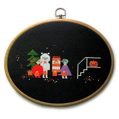 Hallowe'en Cross-Stitch Pattern