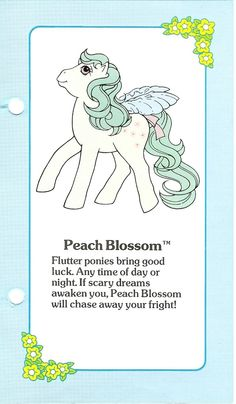 My Little Pony Peach Blossom fact file ...