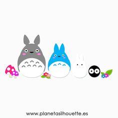 Archivo gratuito Totoro | Planeta SilhouetteSilhouette Madrid | Planeta, Madrid | Tutoriales, Madrid | Bloglovin'