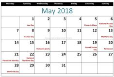 May 2018 Calendar, 2018 Calendar Template, Calendar Pages, Black Hair Dye, Green Hair, Ramadan Start, Black Ponytail Hairstyles, Vibrant Hair Colors, Holiday Calendar