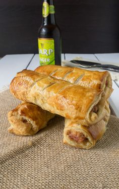 Turkey, Stuffing and Cranberry Sausage Rolls are a great use of Thanksgiving & Christmas turkey leftovers all rolled up in flaky puff pastry. Leftovers Recipes, Turkey Recipes, Turkey Leftovers, Leftover Turkey, Chicken Recipes, Turkey Time, Thanksgiving Dinner Recipes, Holiday Recipes, Thanksgiving Leftovers