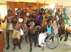 #TheLionKing performed by Right to Dream - the cast get ready