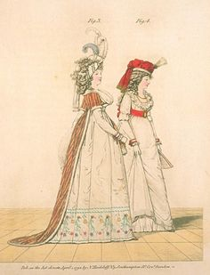 Gallery of Fashion, figures 3 and 4. April 1794.