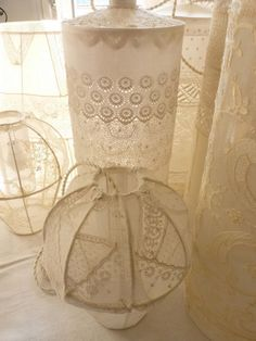 vintage lace lamp shades