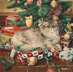 Geoffrey Tristram Christmas cat