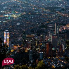 One of our locations: Bogota. A big city that inspires us with its art and music scene, bohemian downtown, stunning mountains and sleepless lights.  www.apacreative.com