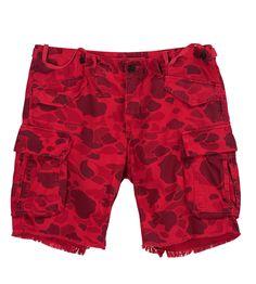 Gant by Michael Bastian Red Camo Cargo Shorts