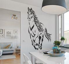 Vinilo decorativo de un caballo al galope #vinilodecorativocaballoalgalope