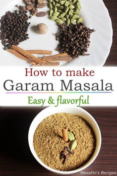 This garam masala is amazingly flavorful, easy to make and adds a great aroma to any Indian dishes like curries, stir fries, biryanis etc. Curry Recipes, Veggie Recipes, Indian Food Recipes, Beef Recipes, Vegetarian Recipes, Cooking Recipes, Healthy Recipes, Veggie Food, Rice Recipes