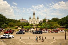 The awe-inspiring Jackson Square in New Orleans is an important part of the Louisiana history as the place where Louisiana was made US territory.
