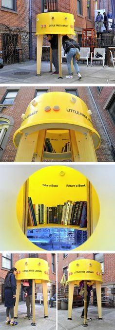 Little Free Library - Take a book and return a book in Nolita's Little Free Library.