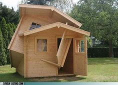 Two Story House designed by a drunk... Or genius?... Definitely drunk.