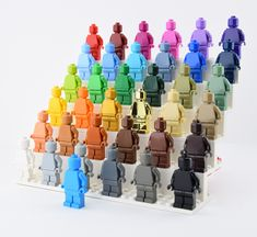 https://flic.kr/p/T4XQP1 | ️🌈LEGO Rainbow🌈 | Hi LEGO fans it's Alex THELEGOFAN here and I have all the 37 monochrome minifigures😃 (except for Light Aqua not available yet) The new Dark Azure minifig is just too good for me😆👍 There are many blue and green colors and I hope Bright Light Orange and Bright Pink colors can be make this year😏 For the LEGO collectors, buy more monofigs on the website : monofigs.bigcartel.com/ Original picture by me