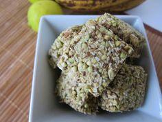 Plan to Eat - Raw Coconut Banana Lime Granola Squares - MarlaJ