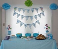 If you're looking for creative Under the Sea buffet ideas, look no further! Crafty mama Meg came up with loads of cute names for the food at her son's party, not to mention some perfectly color-coordinated decor. Here's all the details on Hunter's party under ...