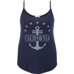 maurices California Anchor And Stars Plus Size Graphic Tank