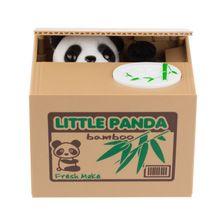 Nova chegada bonito Itazura colorido Automated Panda Coin Bank Piggy caixa de dinheiro do banco(China (Mainland))