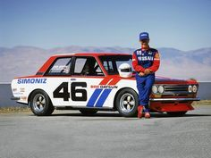 John Morton and his championship-winning BRE Datsun 510