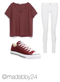 """Read d"" by madsbby24 on Polyvore featuring Zara, Frame Denim, Converse, women's clothing, women's fashion, women, female, woman, misses and juniors"