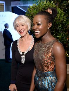 Honorees Helen Mirren and Lupita Nyong'o at the 23rd Annual ELLE Women In Hollywood Awards