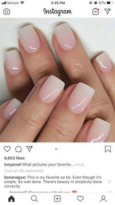 Gel Nails 10 Cute & Stylish Summer Nails for 2019 Baby Girl - Baby Pink Creme Nail Polish Frensh Nails, Nude Nails, Hair And Nails, Dark Nails, Nail Nail, Milky Nails, Dipped Nails, Neutral Nails, Cute Acrylic Nails
