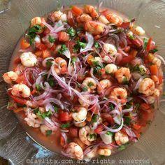 Ceviche de camarón ecuatoriano {Cebiche de camarones}