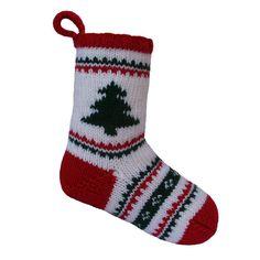 Free Christmas Stocking Knitting pattern by Knitables   Knitting Patterns   LoveKnitting