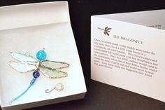 The DRAGONFLY SYMPATHY GIFT and Poem D04. by RedPineJewelryDesign