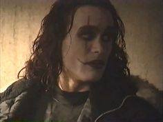 Brandon Lee behind the scenes of The Crow