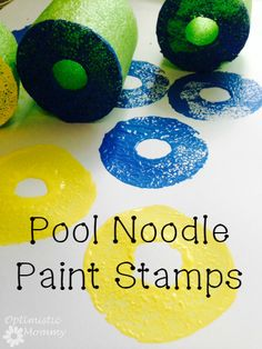 Pool Noodle Uses for the Classroom - 33 Brilliant Ideas Kindergarten Art, Craft Activities For Kids, Preschool Crafts, Toddler Activities, Crafts For Kids, Arts And Crafts, Indoor Activities, Summer Activities, Family Activities