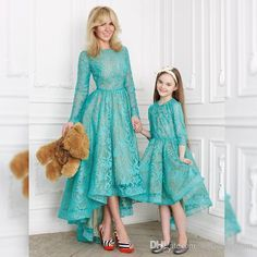 """Mommy is holding my teddy bear. Mom Daughter Matching Outfits, Mommy And Me Outfits, Kids Outfits, Mommy Daughter Dresses, Frocks For Girls, Girls Dresses, Flower Girl Dresses, Mom Dress, Baby Dress"