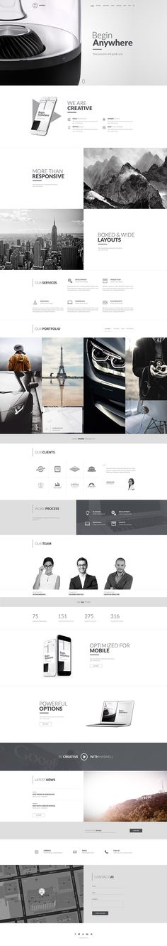 Haswell - Multipurpose Web Template on Behance