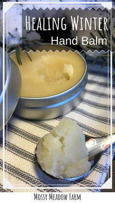 DIY Winter Hand Balm for dry chapped hands. Help heal your dry hands with this homemade hand balm. Homemade Skin Care, Homemade Beauty Products, Homemade Facials, Bath Products, Doterra, Dry Hands Remedy, Dry Cracked Hands, Salve Recipes, Diy Lotion