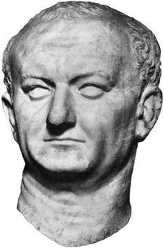 EARLY EMPIRE: Portrait of Vespasian, ca. 75-79 C.E. The simple tastes of Vespasian are apparent in his portrait, which perhaps deliberately resuscitates the veristic tradition of the Republic. (Gardner's)