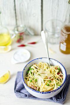 szalonnás-borsós spagetti