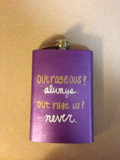 Flask I painted for my littles birthday  Big little gift idea Phi sigma Rho