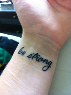 Inspirational tattoo from someone who has a history of self-harm.