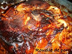 Baked caramelized pork loin - BZH SANDRA- It& Sunday, today and to change some Sunday fried chicken, for lunch this afternoon, let& go pig … A beautiful … - Oven Recipes, Pork Recipes, Chicken Recipes, Dinner Recipes, Cooking Recipes, Pork Roll, Veggie Dinner, Fried Chicken, Four