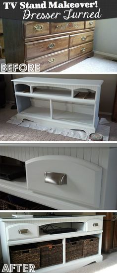 Re-Purpose An Old Dresser And Turn It Into A Brand New TV Cabinet