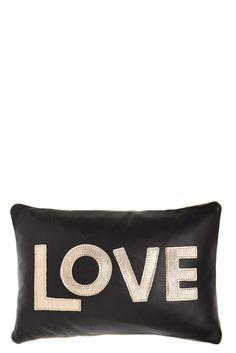Metallic Leather Love Pillow