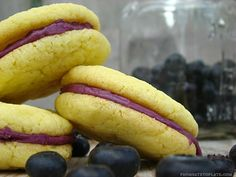 Lemon Blueberry Sandwich Cookies -- From Gate to Plate #FoodieExtravaganza