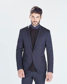 ink blue suit
